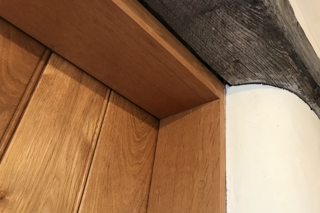 Rebated Oak Door Frame Angled