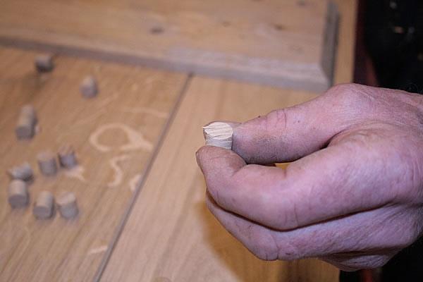 how to fix a hole in an oak door