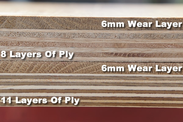 Engineered Oak Flooring Layers