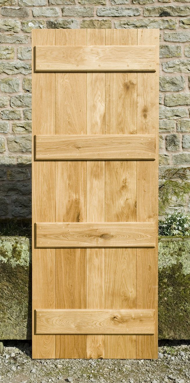 4 Ledge Solid Oak Doors Back