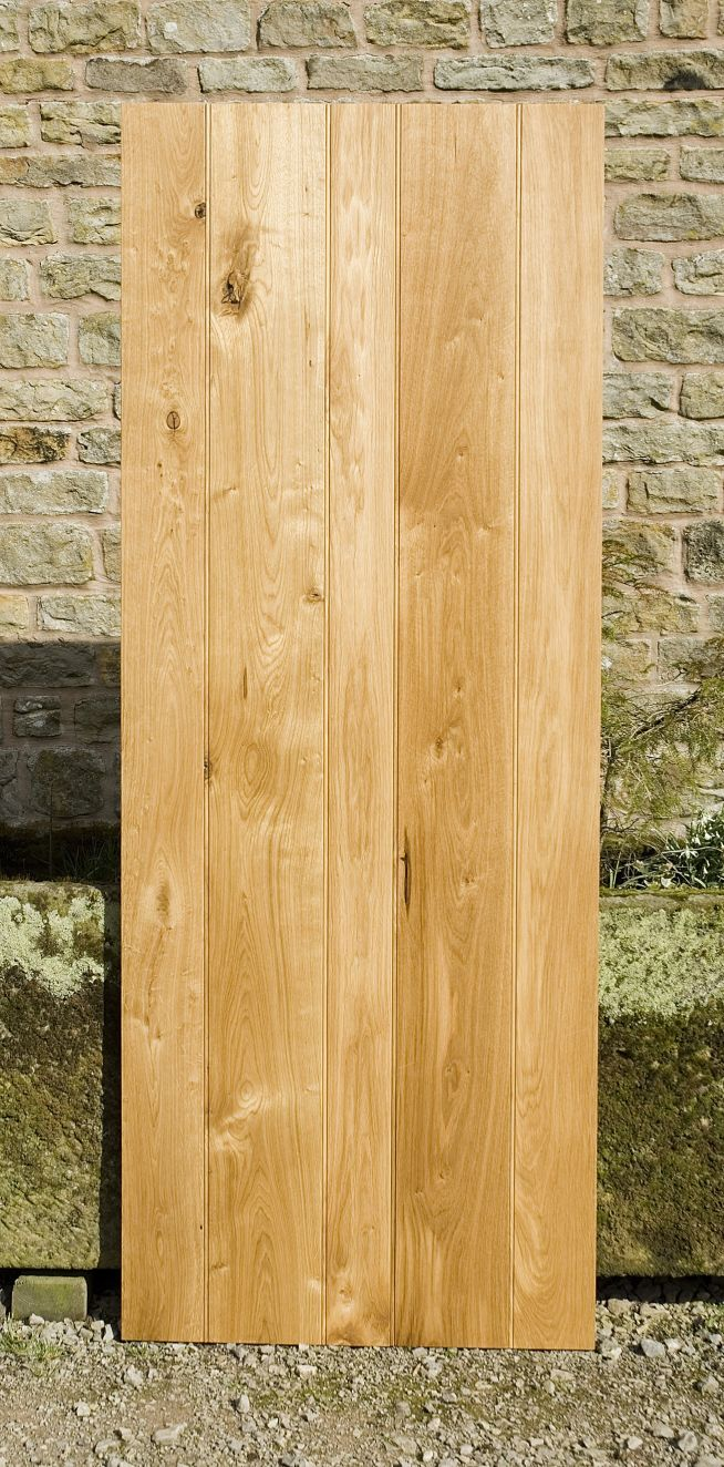 4 Ledge Solid Oak Doors Front