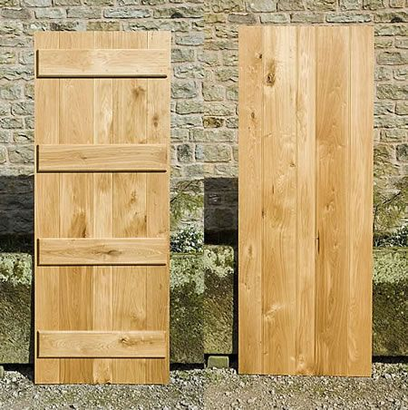 Solid oak ledge and brace doors