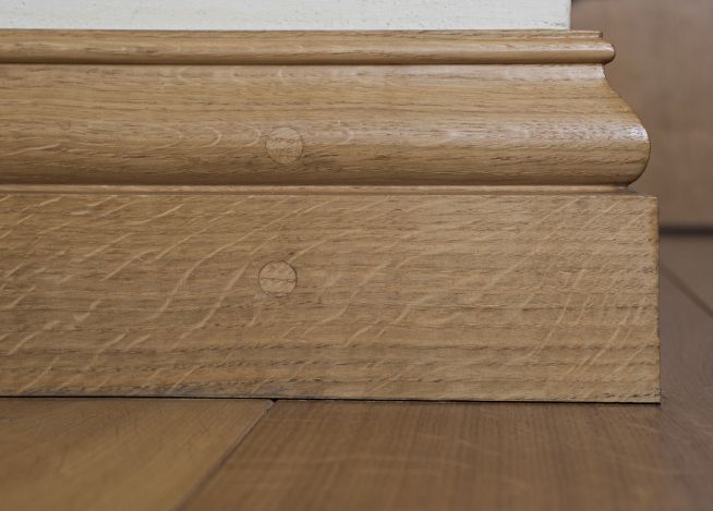 Arabesque solid oak skirting peak oak for Hardwood skirting