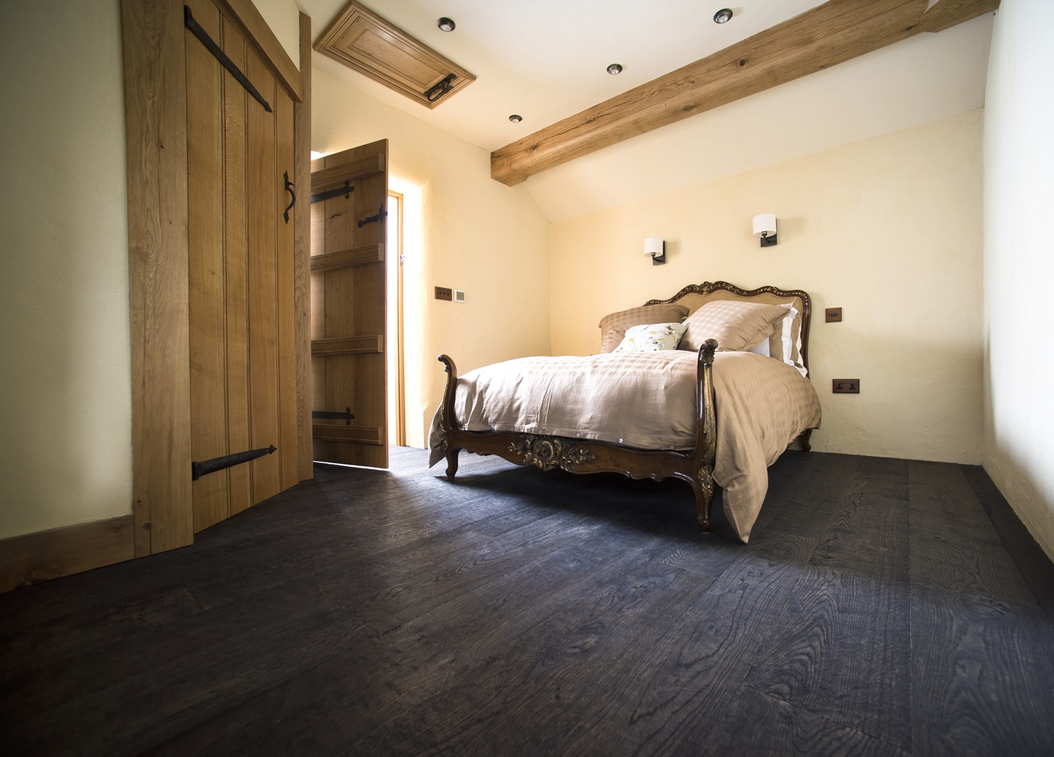 Engineered Oak Flooring In A Bedroom