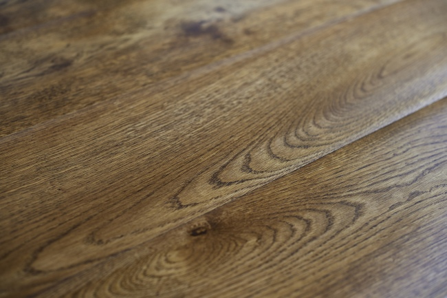Dark Oak Engineered Oak Flooring Close Up