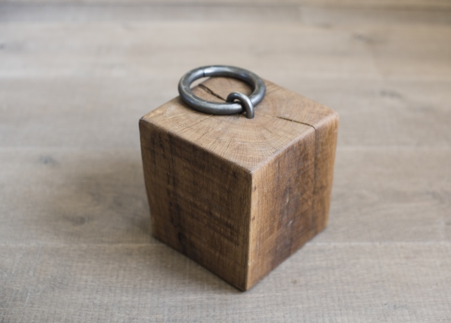 Solid Oak Door Stop