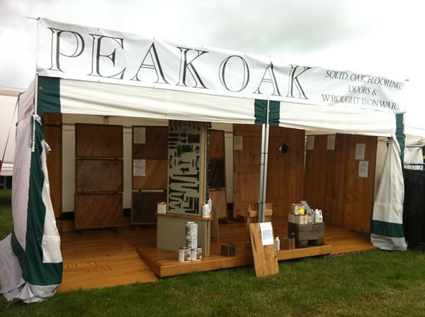 Peak Oak Cheshire Show 2011 Stand