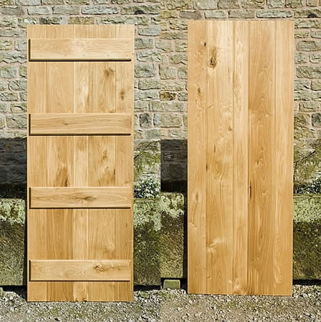 Oak Ledged Doors