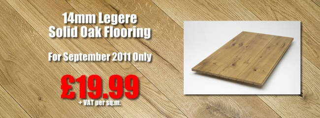 September Special Offer: 14mm Legere Solid Oak Flooring
