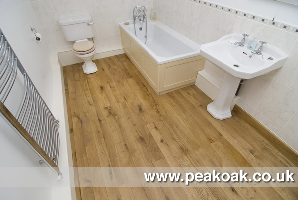 Engineered Oak Flooring Bathroom