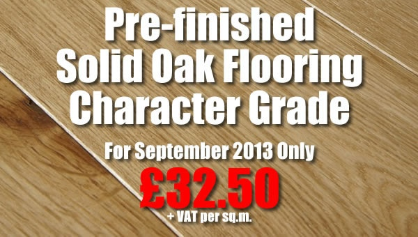 Prefinished Solid Oak Flooring Character Grade