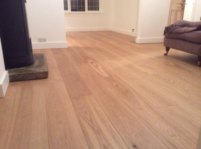 Select Grade 200mm Solid Oak Flooring