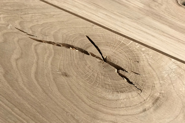 Oak Flooring Knot Close Up
