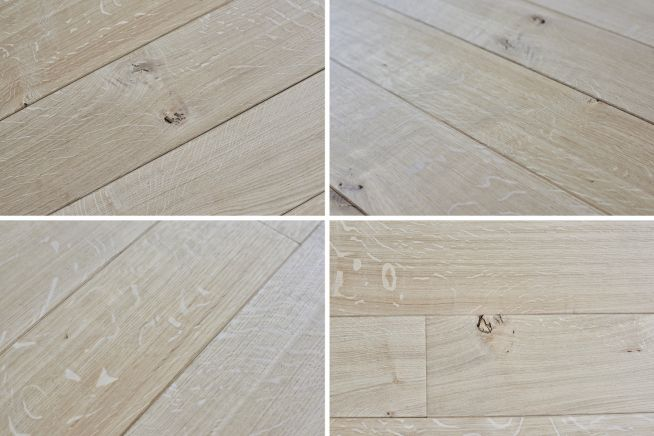 Unfinished Classic Grade Oak Flooring Combined