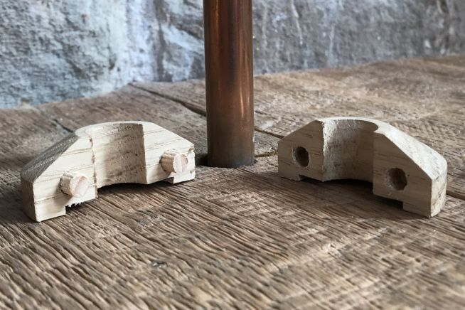 oak-radiator-pipe-collars-separated